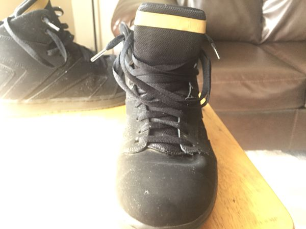 hot sale online b2d83 9ad48 Men s Air Jordan Flight Legend Basketball Black Metallic Gold Black