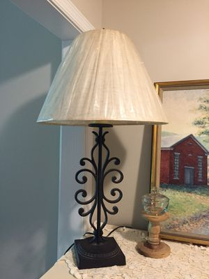 """Black Metal Lamp with New Shade (32""""h) for Sale in Richmond, VA"""