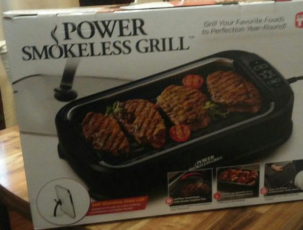 Power Smokeless Grill Self Standing Glass Lid For Sale