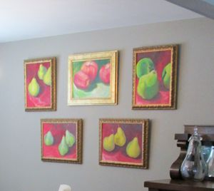 Oil Paintings Wall Art Apples and Pears for Sale in Tampa, FL