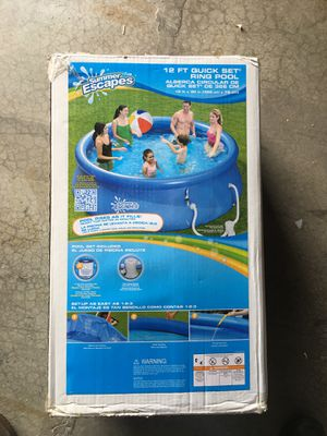 Photo Summer Escapes 12 ft quick set ring pool