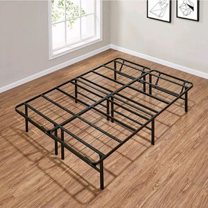Photo Mainstays 14 High Profile Foldable Steel Bed Frame, Powder-coated Steel, Full $45 FIRM