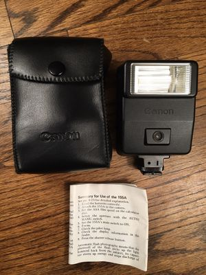 Photo Canon Speedlite 155A Flash, Case and instructions