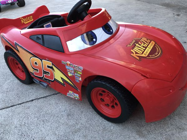 lightning mcqueen car 12volt electric kids ride on cars power wheels