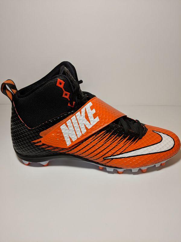 e91f66977 Nike Lunarbeast Strike Pro Black and Orange Men s Football Cleats Size 12