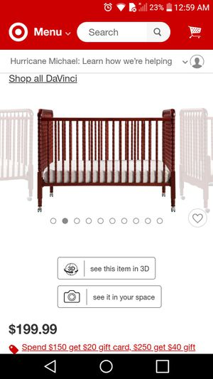3 in 1 Baby bed with mattress and bedding for sale  Wichita, KS