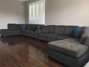 Brand New Brown 9ft X 6 5ft Sofa Sectional Only 650 Each Delivery Available Located In