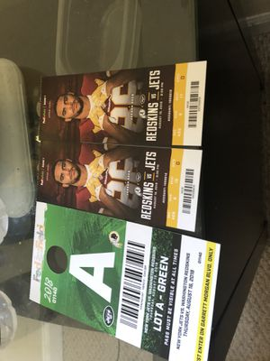 Pre season Redskins tickets vs jets todays for Sale in Oxon Hill, MD