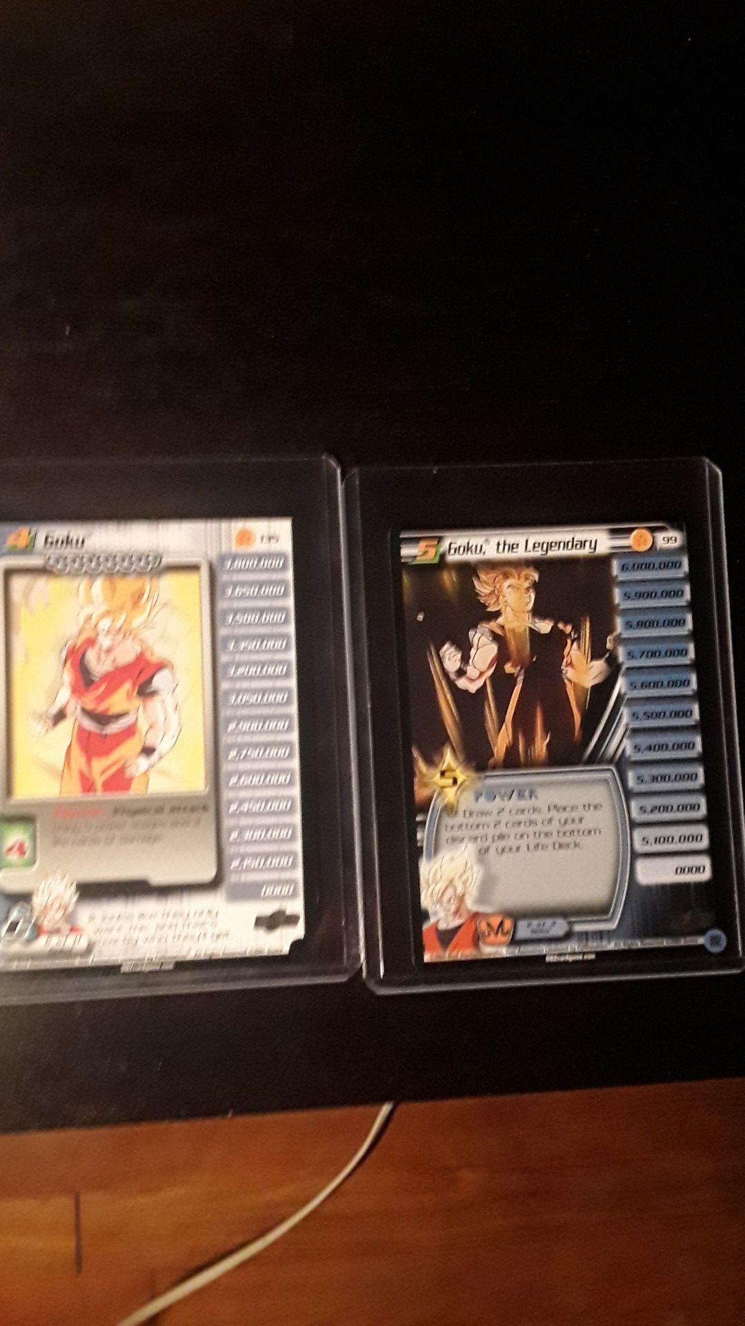 Dragon ball z character cards collectors goku lv 1-5