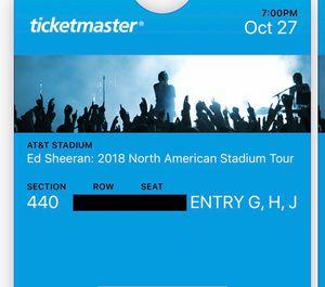 Ed Sheeran 2017 North American Tour Tickets for Sale in Dallas, TX