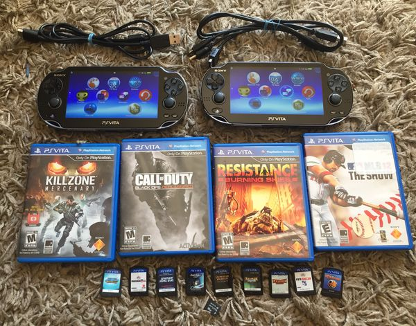 2x PS Vitas PCH-1001 OLED Screen + Games and 1 16gb memory card! for Sale  in San Jose, CA - OfferUp