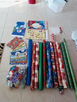 Christmas supplies - paper, stationary, boxes, bows Thumbnail