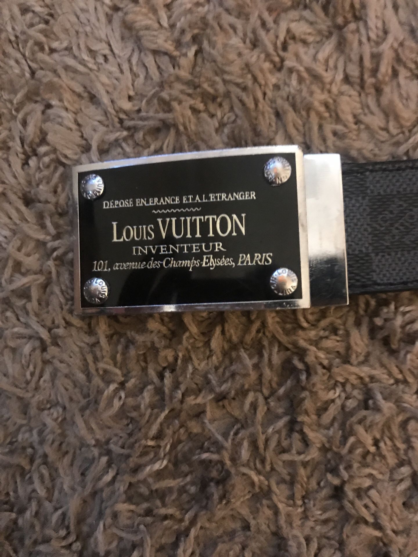 Official Louis Vuitton Belt (With all four screws in front and back)