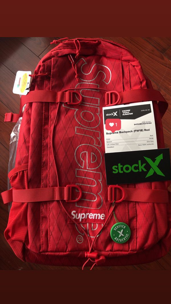 b03941d3 Supreme BackPack FW18 Red for Sale in Dallas, TX - OfferUp