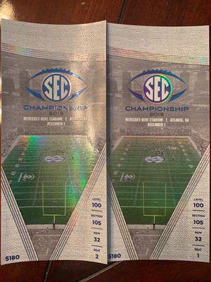 Sec championship 2018 tickets for Sale in Decatur, GA