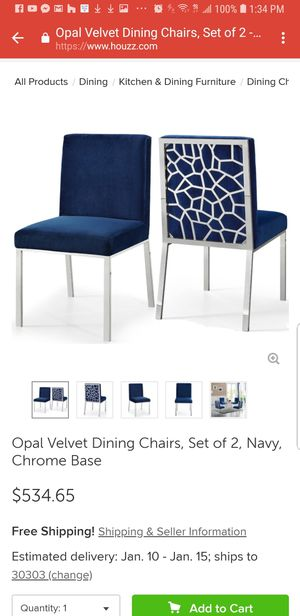 Opal Dining Room Chairs for Sale in Washington, DC