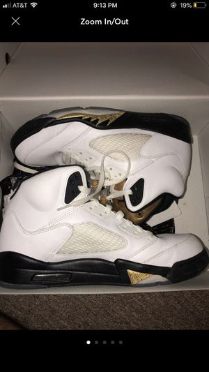 best website f69d5 04c58 Air Jordan retro 5 Olympic gold coin size 12 for Sale in Hilo, HI