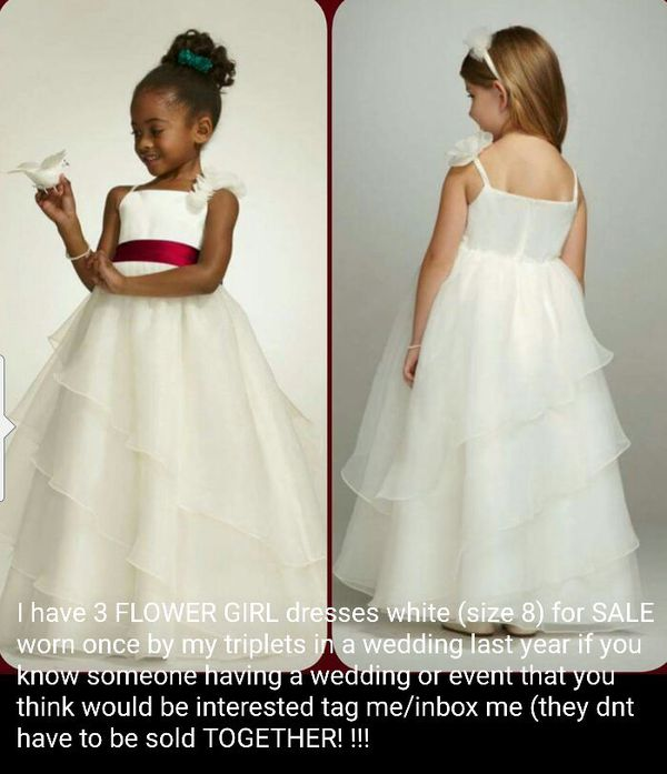 5a3c46a8938 David s bridal flower girl dresses for Sale in Apopka