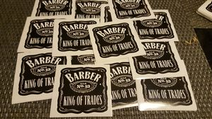 BARBER JACK DANIELS STYLE STICKERS for Sale in La Puente, CA