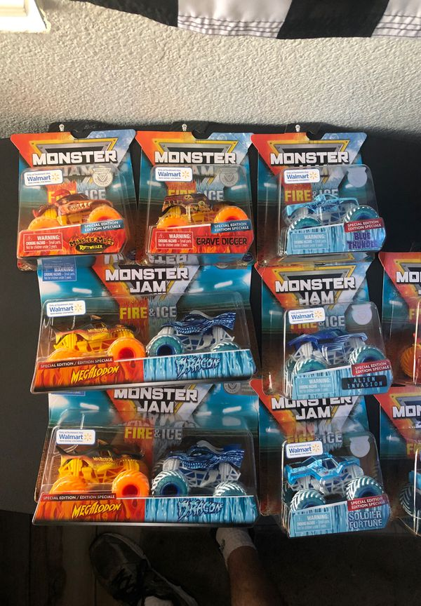 Monster Jam Fire And Ice Walmart Exclusive Monster Trucks For Sale In Fontana Ca Offerup