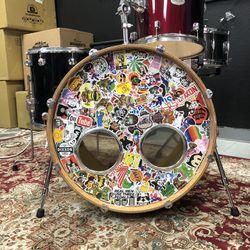 Drum set 4pc mixed set Pearl, Yamaha, Gretsch, PDP Thumbnail