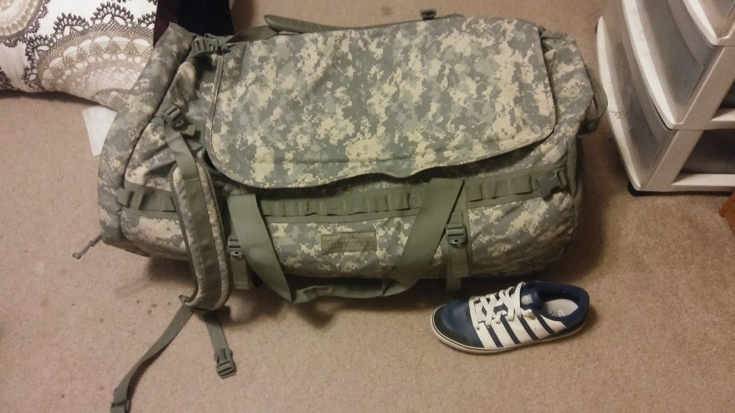 Force protector Gear deployment/combat bag
