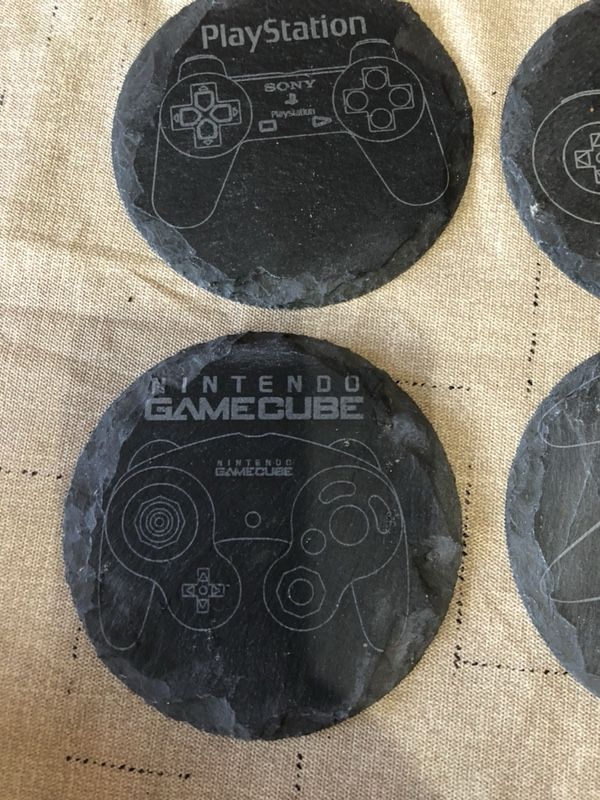 Custom LASER etched slate drink coasters