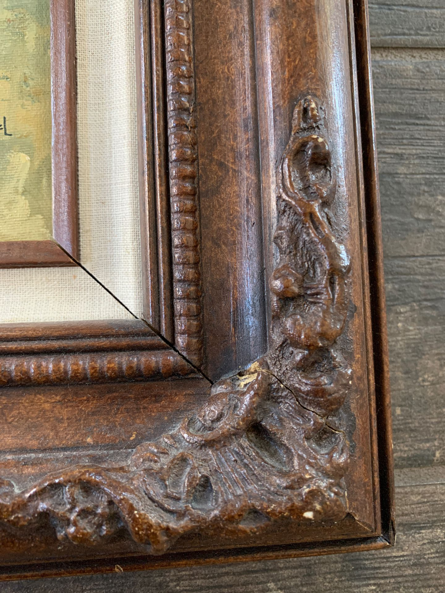 """Original Eckel oil painting and frame. 9""""x12"""""""
