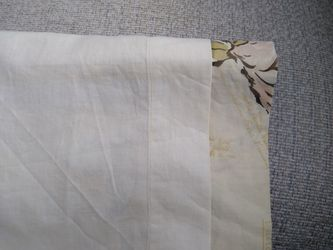Vintage Mid Century Modern Lined Kitchen Cafe Curtains And Valance - IN EXCELLENT CONDITION Thumbnail