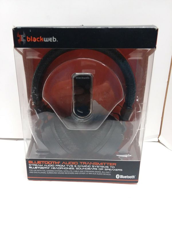 ORIGINAL NEW BlackWeb Headphones Wireless Bluetooth Audio Transmitter US  for Sale in Victorville, CA - OfferUp