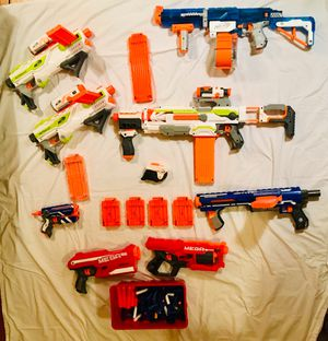 NERF PARTY! 8 guns with accessories, clips, bullets for Sale in Washington, DC