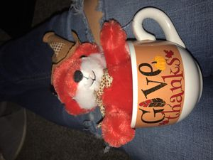 Thanksgiving day Stuffed animal and a mug for Sale in Phoenix, AZ