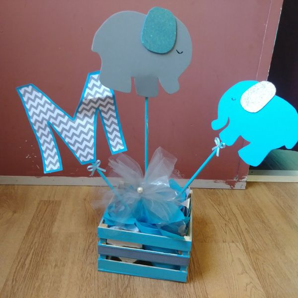 Centros De Mesa Baby Shower Elefante