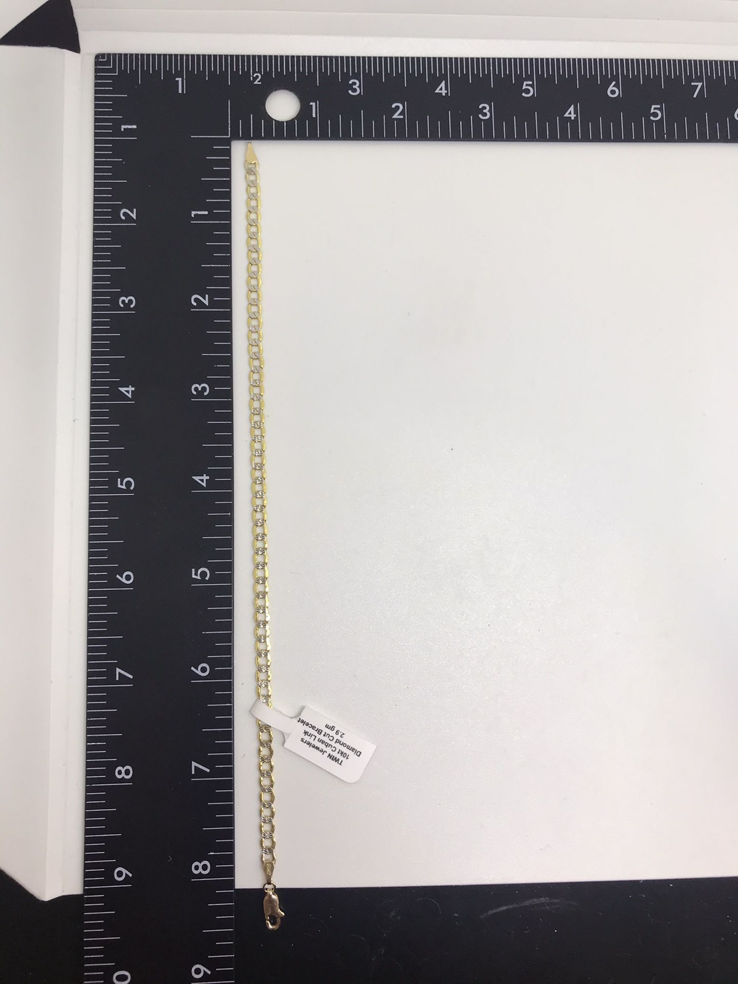 10Kt Gold Diamond cut bracelet available on special offer