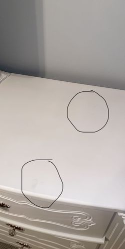 Ashleys Furniture White Dresser and Nightstand. Thumbnail