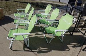 Photo New kids Lime Green Folding Beach Chairs 5 Bucks Each