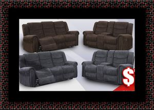 Grey or chocolate recliner set for Sale in Ashburn, VA