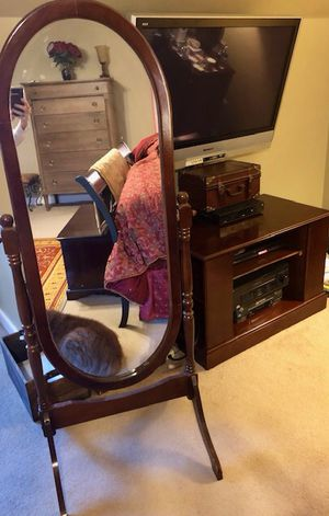 Cherry mirror and entertainment center for Sale in Midlothian, VA