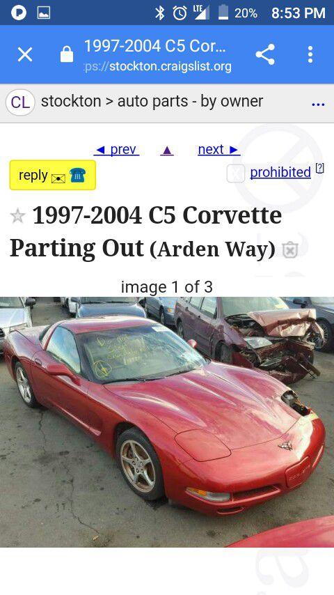 C5 Corvette Parts For Sale For Sale In Manteca Ca Offerup