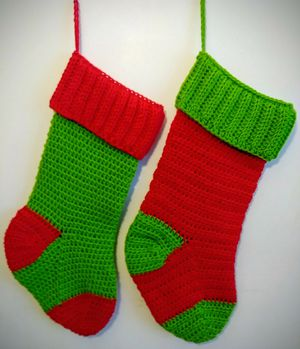 Crocheted Christmas Stockings for Sale in Indianapolis, IN
