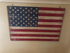 American flag wooden poster for Sale in Gaithersburg, MD