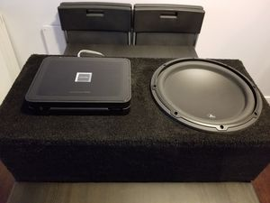 "JL Audio 12"" sub with alpine pdx mono amp for Sale in Seattle, WA"