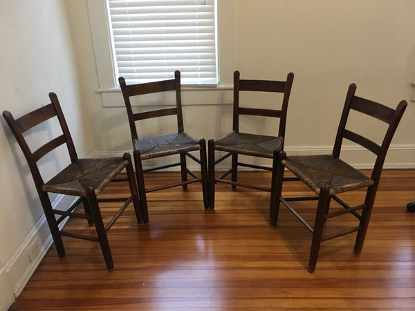 four solid hard wood chairs for sale in norfolk va offerup