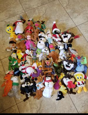 Collectable Warner bros brothers WB ty disney plush toys beanie babies retired for Sale in Pembroke Pines, FL