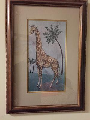 Giraffe picture frame for Sale in Alexandria, VA