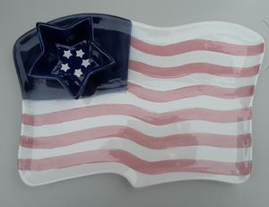 Flag Chip and Dip Platter for Sale in Severn, MD