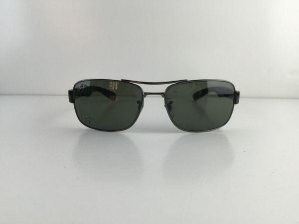 499f48ec9f3 Gently Used Ray-Ban Sunglasses RB 3522 004 9A Gunmetal Black Frame Polarized  Gray Green lens 61mm