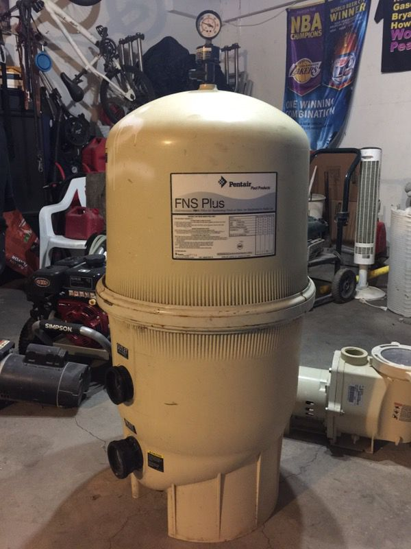 Used Pentair FNS 48 Swimming Pool Filter for Sale in Moreno Valley ...