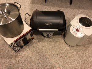 Kitchen Appliances - BBQ Pit, Bread Maker, Stock Pot for Sale in Takoma Park, MD