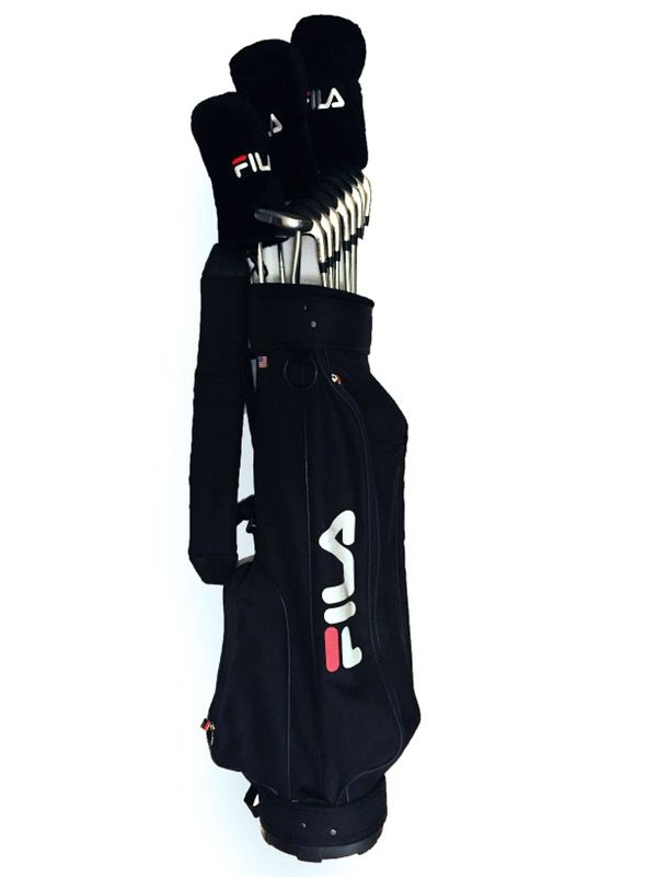 3654f0140397 FILA  Volt  complete club set with gold bag and Carbite putter for ...